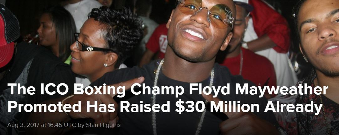 The ICO Boxing Champ Floyd Mayweather Promoted Has Raised $30 Million Already